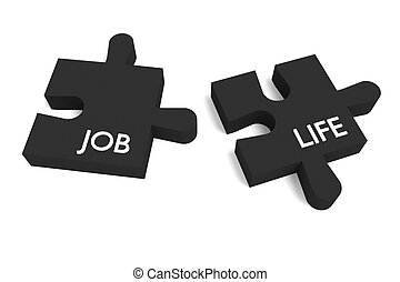 Black Puzzle, job and life