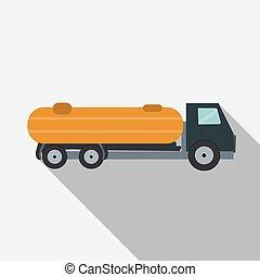 Ftat Truck Vector Illustration EPS10
