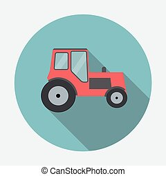 Ftat Tractor Vector Illustration