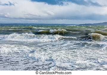 Windy Puget Sound 4 - The normally placid Puget Sound is...