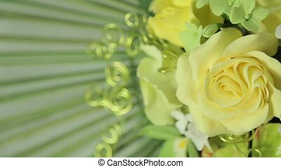 Beautiful spring flower applique close up
