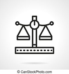 Pharmacy scales black line vector icon