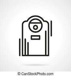 Air ionizer black line vector icon - Appliances and devices...