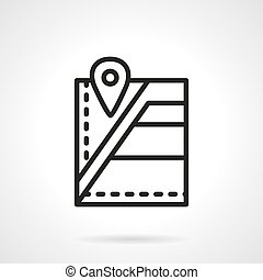 Pharmacy localization black line vector icon - City...