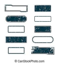 Set of grunge frames, vector
