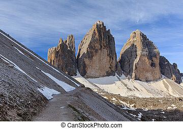 Tre Cime Dolomite Alps, Italy - Tre cime di Lavaredo...