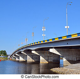 Bridge across the Dnieper River in Kiev Ukraine