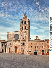 church of S. Michele Arcangelo in Bevagna, Italy - The...
