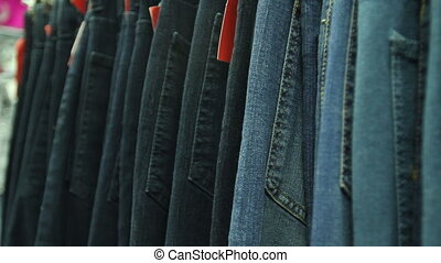 Jeans In Shop of Store Mall