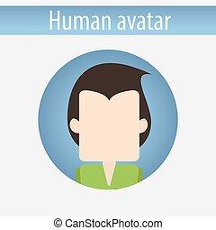 Avatar male white disco man
