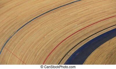 Bicycle race on the track - Cycling on the track view from...
