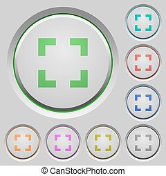 Selector tool push buttons - Set of color selector tool sunk...