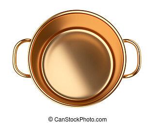 Golden saucepan.