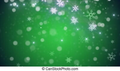Christmas, new year Loop background in Green color