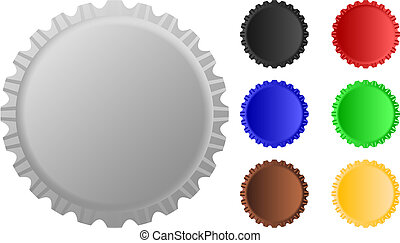 cap - Illustration set of cap in vector with white...