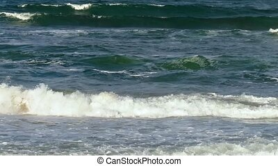 Sea Waves with Foam. Background. - Sea waves with foam caps....