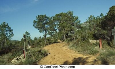 Offroad on a sandy track Andalusia, Spain - Offroad on a...