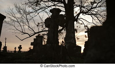 Old Graveyard with Ancient Crosses 5 - Old Graveyard with...