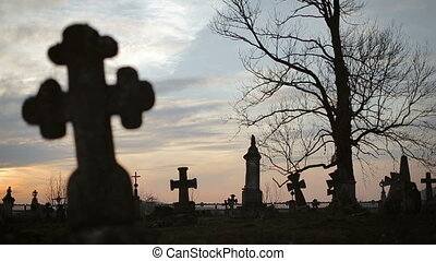 Old Graveyard with Ancient Crosses 6 - Old Graveyard with...