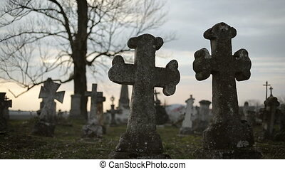 Old Graveyard with Ancient Crosses 7