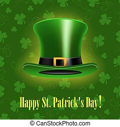 St.Patrick Day background with hat