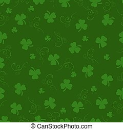 St. Patrick day background. Seamless pattern. Vector...
