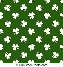 Clover leaves background St Patricks day Seamless pattern -...