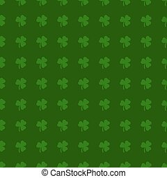 Clover leaves background St Patrick day Seamless pattern -...