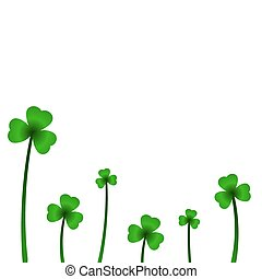 Background with clover in vector.
