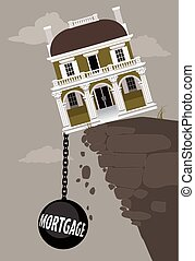 Crippling mortgage - Luxurious mansion teetering on the edge...