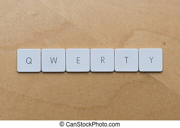 Keyboard Letters-QWERTY - Keyboard letters spell qwerty...