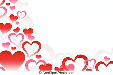 Romantic Love Hearts Background