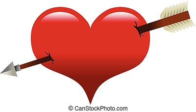 Heart arrow vector illustration