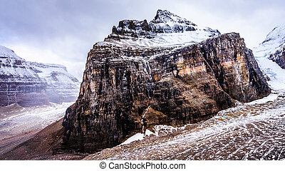 Mount Lefroy in Banff - Mount Lefroy from the end of the...
