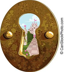 Keyhole - Illustration of Wonderland true the key hole