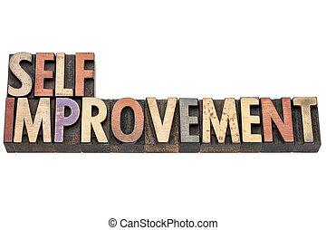 self improvement words in wood type - self improvement words...
