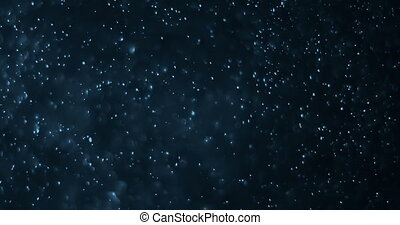 dust particles background loop seamless ready, blue light spot movement