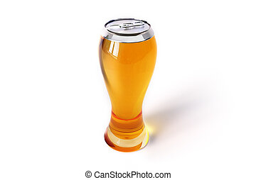 BEER - Beer on the white background.