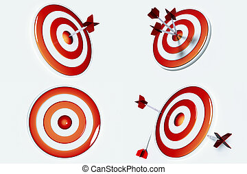 Business Target and Success - Target and arrows for...