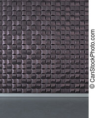 Abstract 3D wall decoration