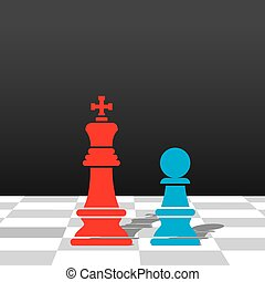 business meeting concept design - chess red king and blue...
