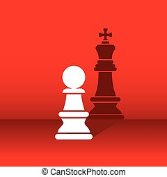 pawn become leader concept design - chess pawn dream become...