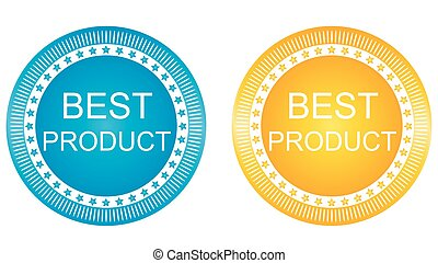 New Best Product Signs Set Vector image