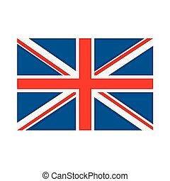 Great Britain flag on white background Vector illustration