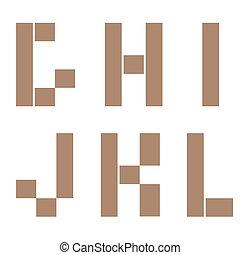 Constructor letter set - Constructor G H I J K L letters...