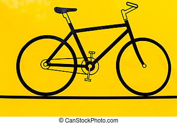 Bicycle outline icon, modern minimal flat design style,...