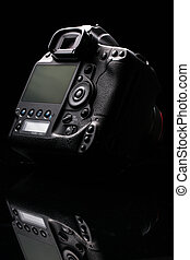 Professional modern DSLR camera low key image - Modern DSLR...