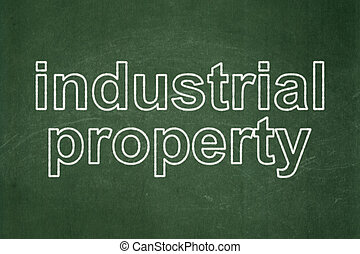 Law concept: Industrial Property on chalkboard background