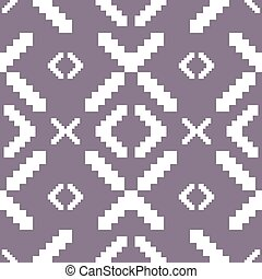 Seamless knitted pattern in muted purple color