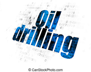 Industry concept: Oil Drilling on Digital background -...